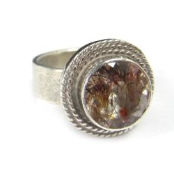 super seven,blask,mineralny,srebrny,ametyst,kwarc, - Pierścionki - Biżuteria
