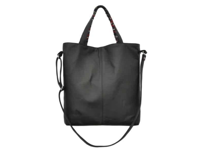 049f7b1f25a2e Czarna duża torebka damska JAY 16-0001. czarne duże torebki damskie skórzane  markowe modne - Na ramię ...