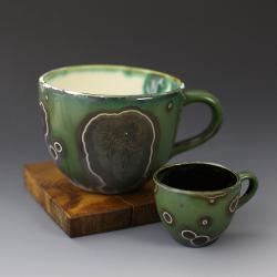 ceramika krystaliczna,zestaw kubków - Ceramika i szkło - Wyposażenie wnętrz