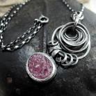 Naszyjniki Naszyjnik - srebro i surowy rubin
