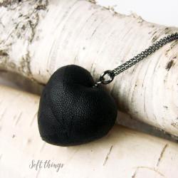 srebrny wisior serce,serduszko,prezent,soft - Wisiory - Biżuteria