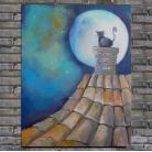 Obrazy kot,dach,bajka