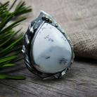 Dendritic Agate & Silver Ring