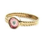 Pierścionki złoty pierścionek z turmalinem,zaręczynowy
