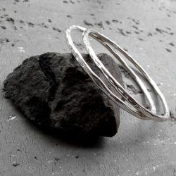 nowoczesne,okrągłe,surowe,fakturowane,zestaw - Bransoletki - Biżuteria