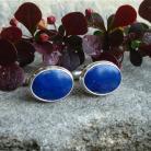 Dla mężczyzn niebieskie,mankietówki z lapisem,elegancja,k