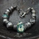 Bransoletki bransoleta - srebro i szkło afgańskie