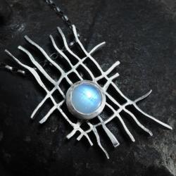 Naszyjnik z kamieniem księżycowym - Naszyjniki - Biżuteria