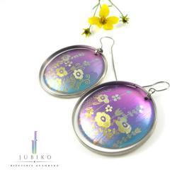 kolorowe,tytan,lekkie,kolczyki,kwiatki - Kolczyki - Biżuteria