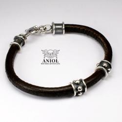 bransoleta skórzana,biżuteria męska - Dla mężczyzn - Biżuteria