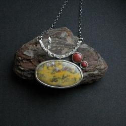 naszyjnik,biżuteria artystyczna,srebrna,fiann - Naszyjniki - Biżuteria