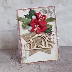 Święta,Boże narodzenie,stajenka - Kartki okolicznościowe - Akcesoria