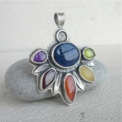 kolorowy,multibarwny wisior - Wisiory - Biżuteria