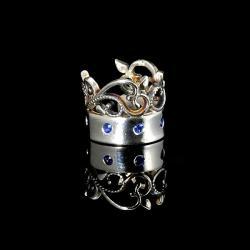 cuff z koronką,cuff z cyrkoniami,Marina Noske - Inne - Biżuteria