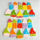 Magnesy na lodówkę domek,magmes,kuchnia,kolorowe
