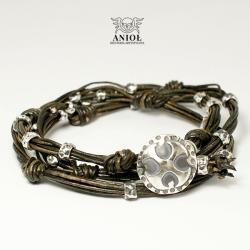 naszyjnik,bransoleta,skórzana biżuteria męska - Dla mężczyzn - Biżuteria
