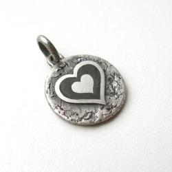 Wisior,serce,srebro - Wisiory - Biżuteria