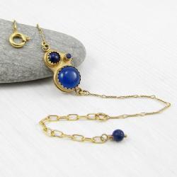 kobieca,egipska,elegancka,kobaltowa,boho - Bransoletki - Biżuteria