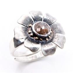 baśniowy,ekskluzywny,pierścionek kwiat, - Pierścionki - Biżuteria
