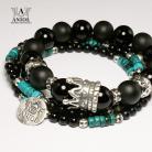 Bransoletki komplet bransolet,biżuteria modułowa,koraliki