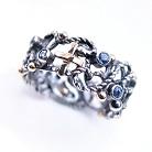 Pierścionki srebrno-złoty pierścionek,srebrno-złoty różaniec