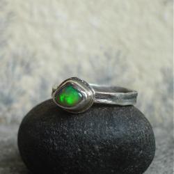 pierścionek z opalem,opal,Etiopia - Pierścionki - Biżuteria