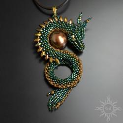 smok,zielony,gra o tron,baśniowy,fantasy,efektowny - Wisiory - Biżuteria