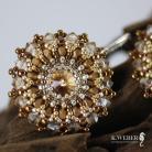 Kolczyki Długie,bogate,złote,eleganckie