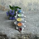 Goście z Ogrodu - srebrny pierścień z kamieniami