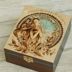 pudełko,herbatnica,lato - Herbatnice - Wyposażenie wnętrz