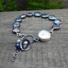 Bransoletki perły,romantyczna,srebro,muszelki,marynistyczna