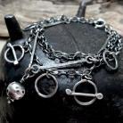 Bransoletki Bransoletka - srebrne łańcuszki,kółeczka i kulk