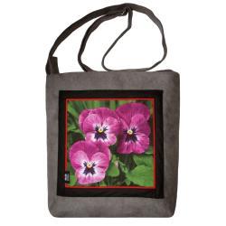 codzienna torba,wygodna torebka,kwiaty,bratki - Na ramię - Torebki