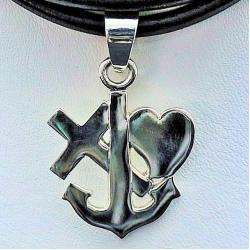 naszyjnik srebrny,medalion,srerbo,wisiory - Naszyjniki - Biżuteria