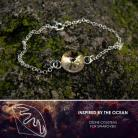 Bransoletki srebrna bransoletka z jeżowcem Swarovski