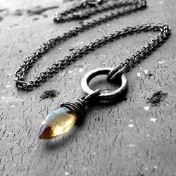 delikatny,zmyslowy,romantyczny,cytryn - Naszyjniki - Biżuteria