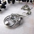 Naszyjniki naszyjnik,kwarc,srebro