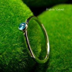 Nehesi,Pierścień,Ze Srebra,topazem - Pierścionki - Biżuteria