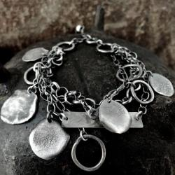 srebro,kute,surowe,bransoleta - Bransoletki - Biżuteria