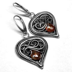 kolczyki z łezkami topazu - Kolczyki - Biżuteria