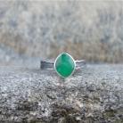Pierścionki chrzyopraz,zieleń,pierścionek