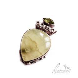 srebrny wisior,wiosenny,pastelowy,ozdobny - Wisiory - Biżuteria