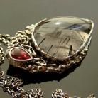 Naszyjniki srebro,kwarc,turmalin