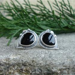 czerń,czarne kolczyki,elegancja - Kolczyki - Biżuteria