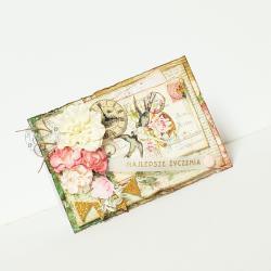 jaskółki,kwiaty,życzenia,na każdą okazję - Kartki okolicznościowe - Akcesoria