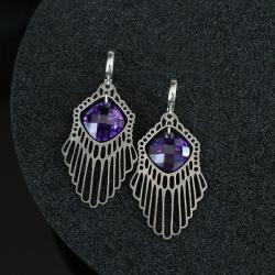 srebrne kolczyki,kolczyki z cyrkoniami - Kolczyki - Biżuteria