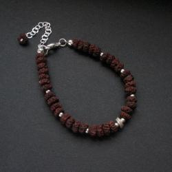 rudraksha,bransoletka,biżuteria artystyczna, - Bransoletki - Biżuteria