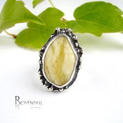 mleczny bursztyn,amber,pierścień - Pierścionki - Biżuteria