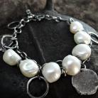 Bransoletki Srebrna,bransoleta,z perłami