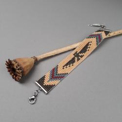bransoletka,tkana na krośnie,kolorowa,z motywem - Bransoletki - Biżuteria
